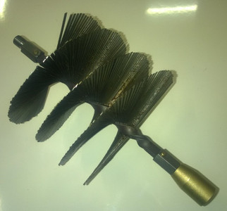 140mm Flat Strip Steel Brush for use with Universal Drain Rods