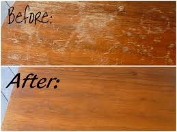 Before and after wood cleaned with T The Victorian House Rejuvenator