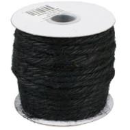 "3.5""mm X 25 Yards Burlap Jute Rope Twine - Choose From 8 Colors (Black)"