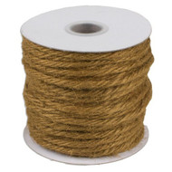 """3.5""""mm X 25 Yards Burlap Jute Rope Twine - Choose From 8 Colors (Sable)"""