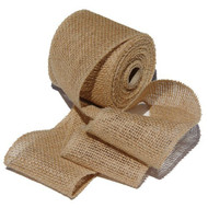 4 Inch Burlap Jute Ribbon for Party Decorations, Rustic Wedding Decor, Craft Projects - Natural