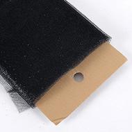 "54"" Inch X 10 Yards Premium Glitter Tulle Fabric Bolt (Black)"