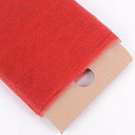 """54"""" Inch X 10 Yards Premium Glitter Tulle Fabric Bolt (Red)"""