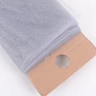 "54"" Inch X 10 Yards Premium Glitter Tulle Fabric Bolt (Silver)"