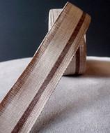 "AK-Trading 1.5"" Inches X 10 Yards Vintage Cloth Striped Ribbon (Natural)"