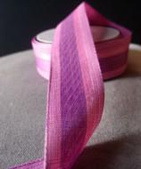 "AK-Trading 1.5"" Inches X 10 Yards Vintage Cloth Striped Ribbon (Pink)"