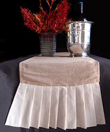 """AK-Trading 14"""" x 114"""" Juco Burlap & Cotton Blend Table Runner with Cotton Ruffles"""