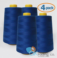 AK-Trading 4-Pack ROYAL BLUE Serger Cone Thread (6000 yards each) of Polyester thread for Sewing, Quilting, Serger #790