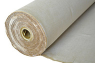 """AK-Trading 60"""" Wide Burlap and Cotton Blend Natural Lint Free Linen Burlap Fabric for Crafts & Decoration (60"""" Wide x 10 Yards Long)"""