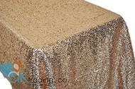 AK-Trading BLUSH Sequin Rectangular Tablecloth, Rain Drops Sequin Taffeta Fabric Sequin Table Cover- BLUSH