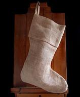 """AK-Trading Burlap Jute Holidays Christmas Stockings - Pack of 6 (Natural Burlap, 8"""" x 17""""H x 12"""" foot)"""
