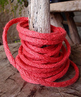 """AK-Trading Decorative Jute Wired Rope 1/4"""" X 9 Yards (Coral Red)"""