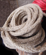 """AK-Trading Decorative Jute Wired Rope 1/4"""" X 9 Yards (Light Natural)"""