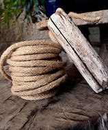 """AK-Trading Decorative Jute Wired Rope 1/4"""" X 9 Yards (Natural)"""