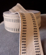 "AK-Trading Polyester Blend Burlap Webbing Ribbon with Stitching, 1.5"" Inches X 10 Yards (Black)"