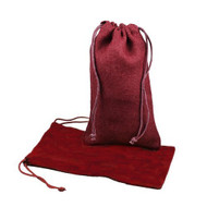 "Burlap Jute Favor Bags (Pack of 12) - Select From 8 Colors Available in 3 Sizes (6""x10"", Burgundy)"