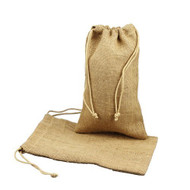 "Burlap Jute Favor Bags (Pack of 12) - Select From 8 Colors Available in 3 Sizes (6""x10"", Natural)"