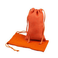 "Burlap Jute Favor Bags (Pack of 12) - Select From 8 Colors Available in 3 Sizes (6""x10"", Orange)"