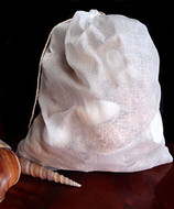"""Cotton Muslin Favor Bags (Pack of 12) - Select From 8 Different Sizes (10""""x12"""")"""