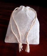 """Cotton Muslin Favor Bags (Pack of 12) - Select From 8 Different Sizes (3""""x4"""")"""