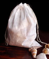 """Cotton Muslin Favor Bags (Pack of 12) - Select From 8 Different Sizes (8""""x10"""")"""