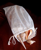 """Cotton Muslin Favor Bags (Pack of 12) - Select From 8 Different Sizes (8""""x12"""")"""