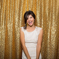 GOLD Sequin Taffeta Fabric Photography Backdrop, Sequin Photo Booth Backdrop, Sequin Drape - MADE IN USA - Select from 3 Sizes. (5ft x 9ft)