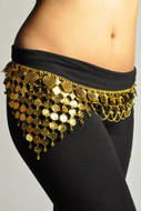 Gypsy Hippie Belly Dance Gold Metal Dangling Coins Chains Belt Adjustable - #B136G
