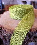 JUTE BURLAP RIBBON - GREEN 1.5 INCH X 10 YARDS