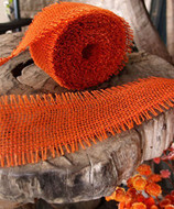 JUTE BURLAP RIBBON - ORANGE 2.5 INCH X 10 YARDS