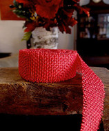 JUTE BURLAP RIBBON - RED 1.5 INCH X 10 YARDS