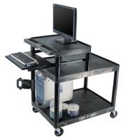 Black multimedia cart
