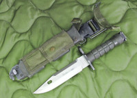 USMC Buck +   M9 Bayonet with Scabbard - 1991 - Phrobis Style - Complete - USA Made