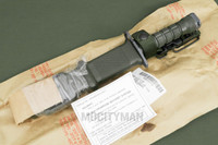Lan-Cay M9 Bayonet with Scabbard and Manual - Unissued 1995 Model  - Genuine Military - USA Made (20536)