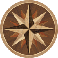 "Sea Compass Dark 36"""