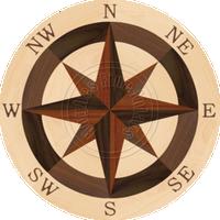 """Sea Compass North Full (Maple) 18"""""""