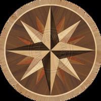 "Sea Compass Dark 72"""