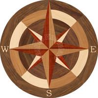 """Sea Compass North 18"""""""
