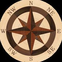 """Sea Compass North Full (Maple) 36"""""""
