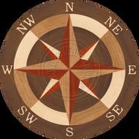 """Sea Compass North Full 18"""""""