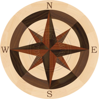 """Sea Compass North with N (Maple) 24"""""""