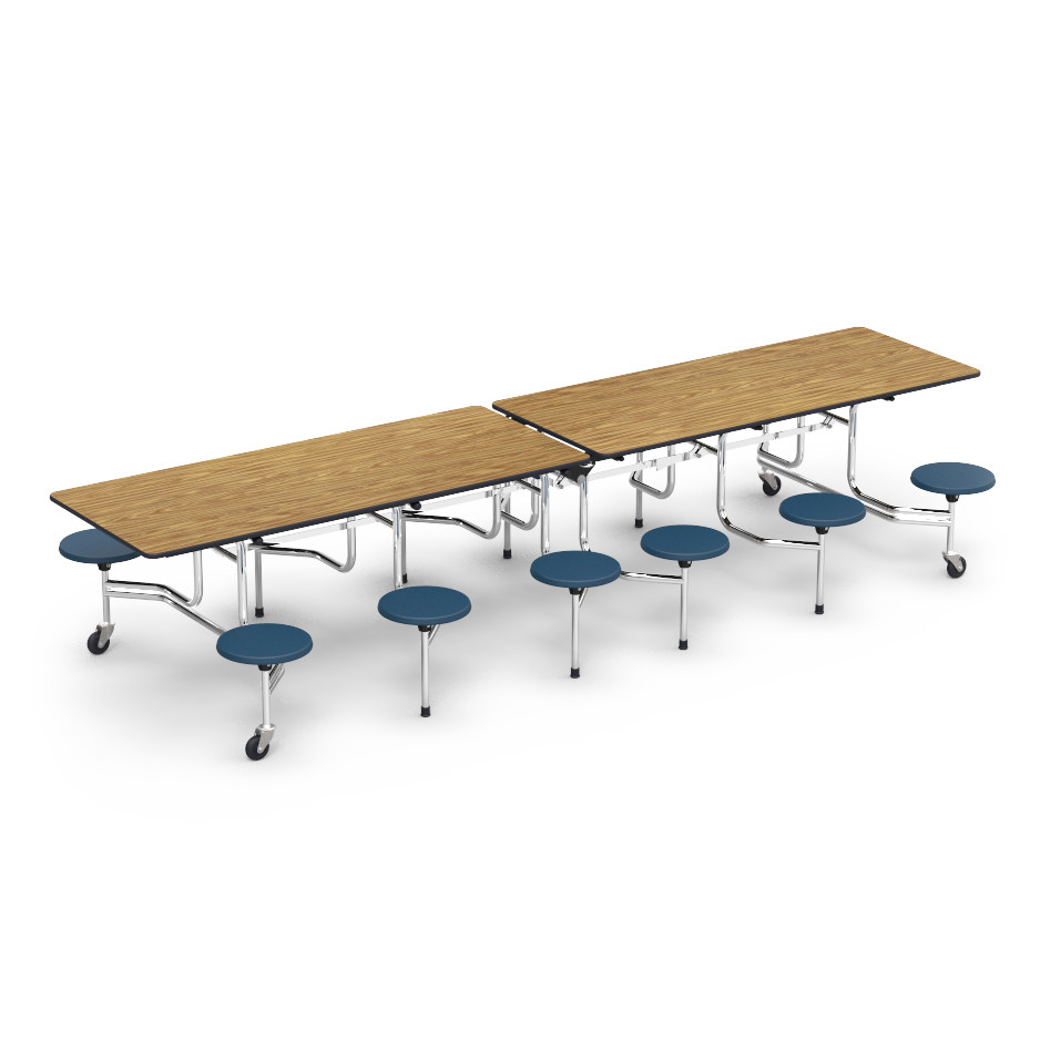 12 ft cafeteria table 15 in stool seat school furniture for 12 ft table