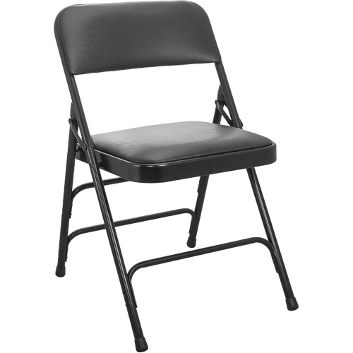 Metal Padded Folding Chairs padded folding chairs | metal folding chairs | black vinyl