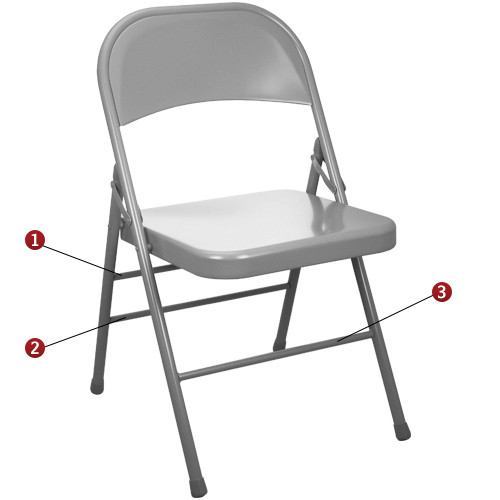 White Metal Folding Chairs metal folding chairs | gray folding chairs