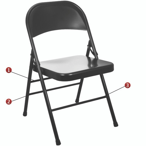 metal folding chairs wholesale for rent chair cover pattern black