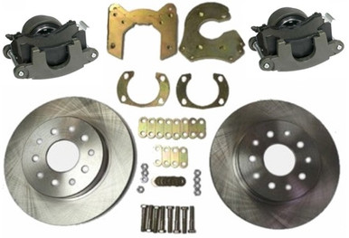Bolt On Rear Disc Brake Kit with GM Metric Iron Calipers