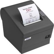 Epson TM-T88V Direct Thermal Receipt Printer, Dark Gray, USB