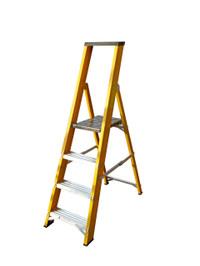 Lyte GFBP4 4 Tread Fibreglass Ladder from Toolden