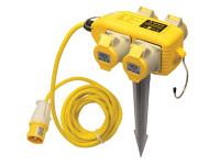 Faithfull Power Plus Power Block 4 Way Distribution Box 110 Volt 16 Amp| Toolden
