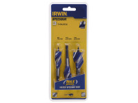 IRWIN 6X Blue Groove Stubby Wood Bit Set 3 Piece 16-25mm| Toolden